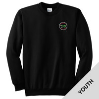 PC90Y - Caddo Lodge Logo - EMB - Youth Crewneck Sweatshirt