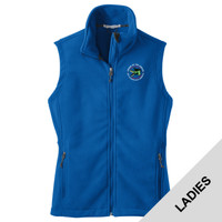L219 - Caddo Lodge Logo - EMB - Ladies Fleece Vest